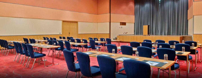 Der Ballsaal des Hotels kann für Veranstaltungen mit bis zu 380 Gästen genutzt werden
