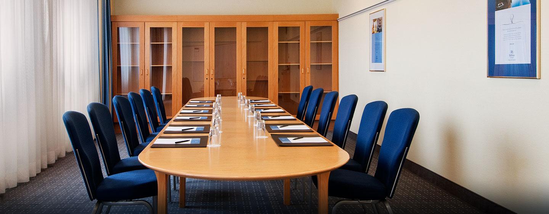 Veranstaltungen mit bis zu 380 Teilnehmern können im Hilton Nuremberg Hotel durchgeführt werden