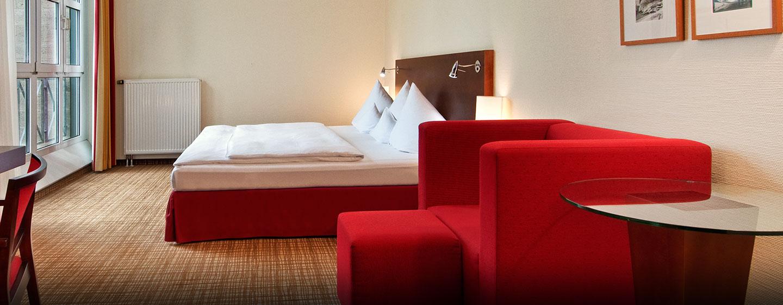 Das Hilton Plus Zimmer bietet Ihnen ein großzügiges Platzangebot
