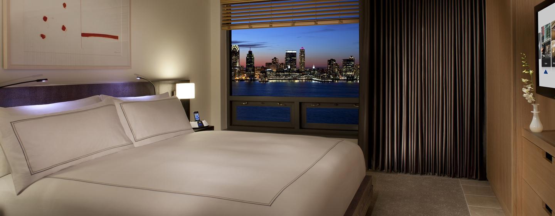 Aus der luxeriösen Suite haben sie einen schönen Ausblick auf den Hudson