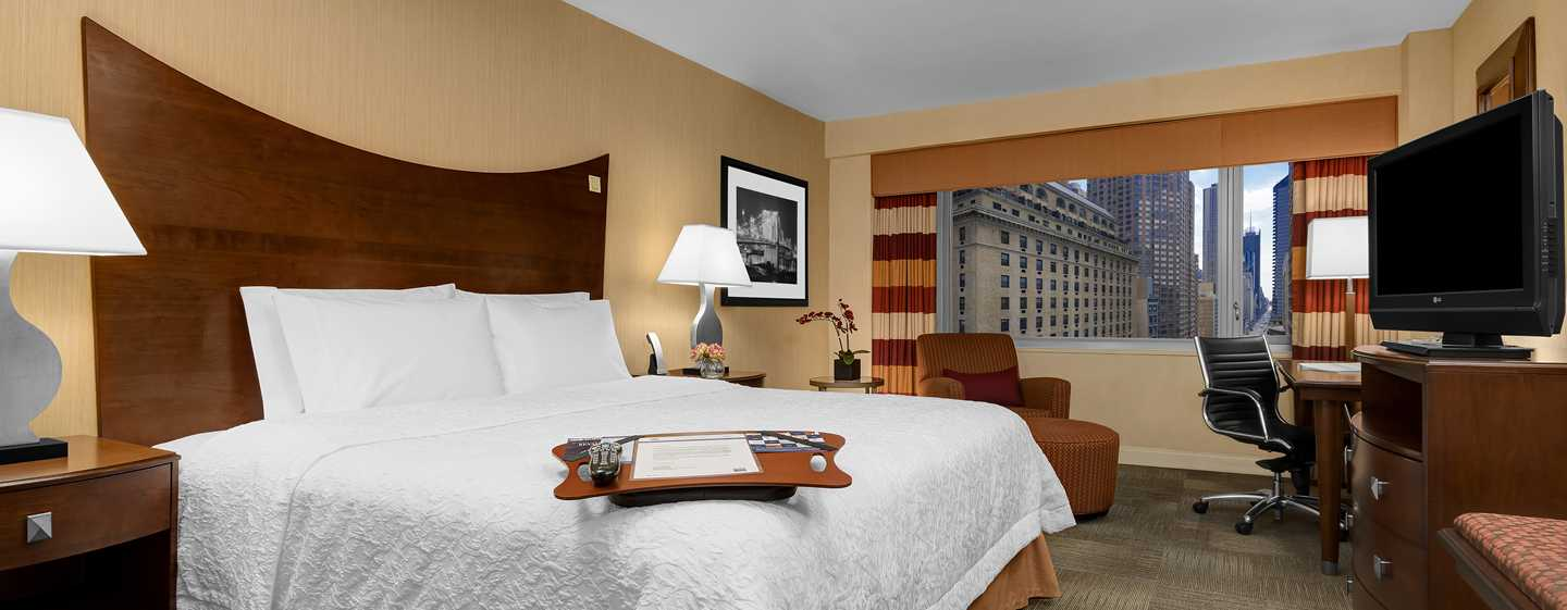 Hampton Inn Manhattan-Times Square North Hotel, New York, USA – Zimmer mit King-Size-Bett