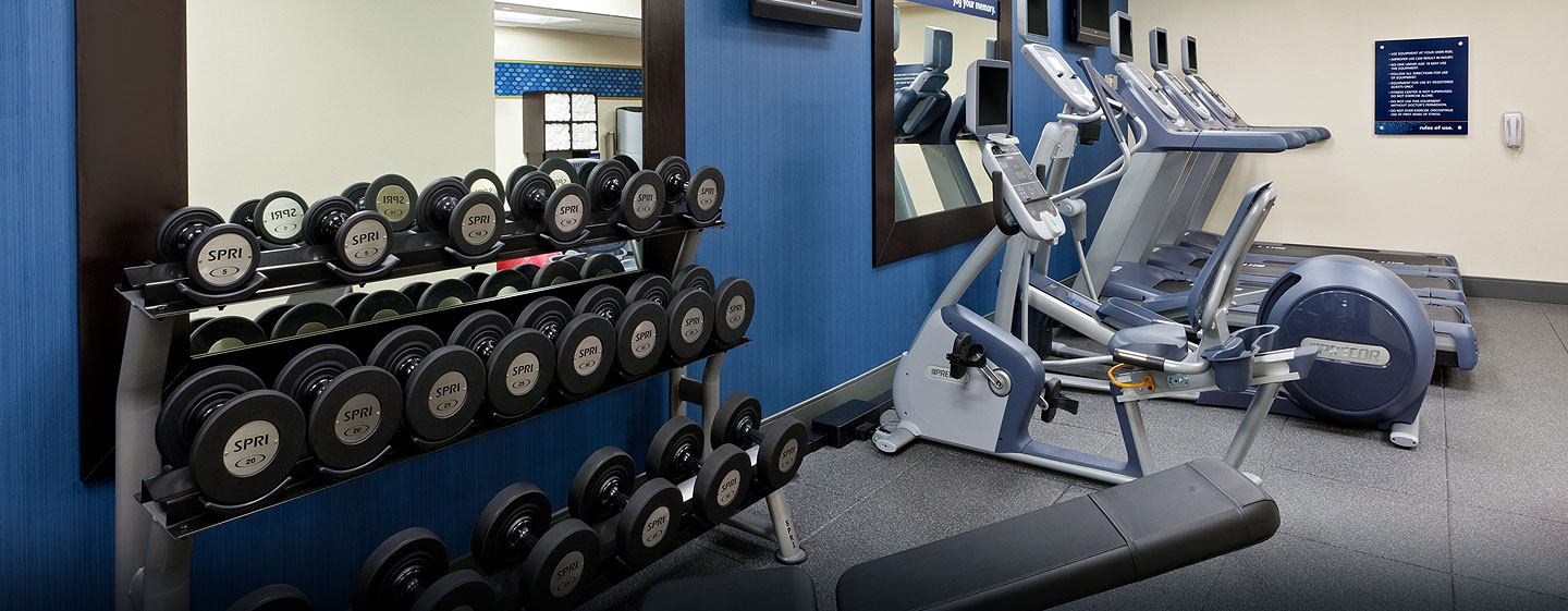 Hotel Hampton Inn Manhattan-Times Square North, Nueva York - Pesas del gimnasio