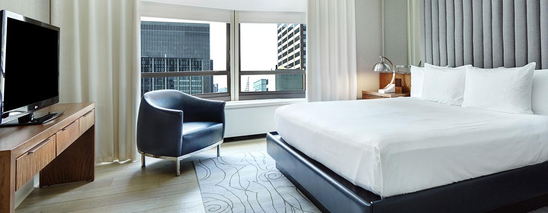 Hotel New York Hilton Midtown, Stati Uniti - Camera da letto della Suite Signature