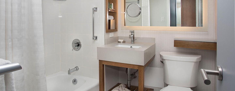 New York Hilton Midtown, NY - Baño de la habitación ejecutiva