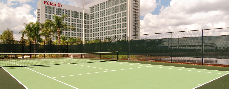 Im Hilton Orlando können Sie auf den Tennisplätzen Ihre Vorhand verbessern