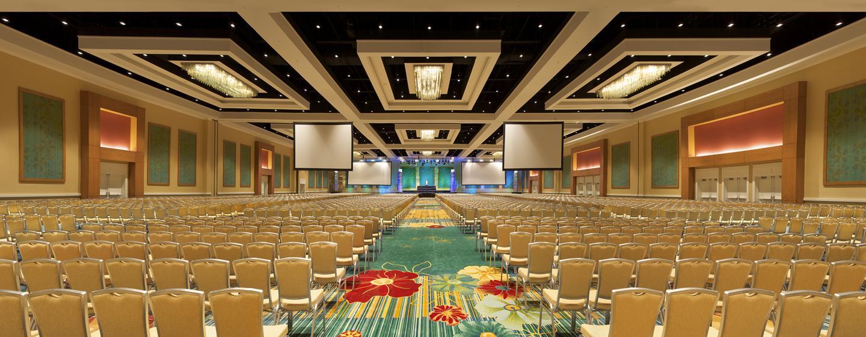 Der spektakuläre Ballsaal des Hotel bietet Platz für große Events und Konferenzen