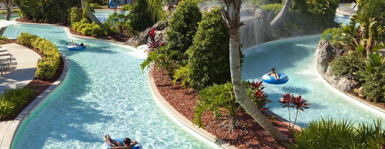Das Hotel verfügt über einen Lazy River, in dem Sie oder Ihre Kinder entspannend Runden drehen können