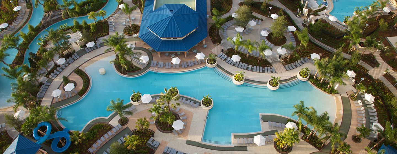 Im Resort stehen Ihnen mehrere Pools und ein Lazy River zur Verfügung