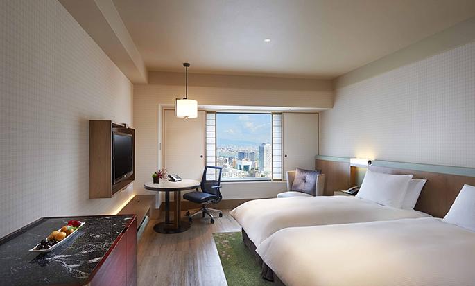 Hilton Osaka Hotel, Japan - großes Zweibettzimmer