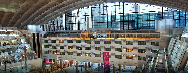 Hôtel Hilton Paris La Défense, France - Vue de l'hôtel depuis le CNIT