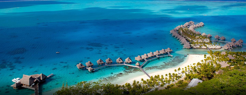 Hôtel Hilton Bora Bora Nui Resort & Spa, Polynésie française - Vue aérienne du complexe hôtelier