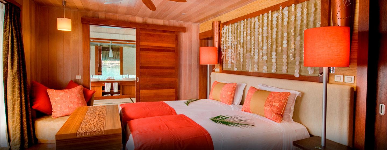 Hôtel Hilton Bora Bora Nui Resort & Spa, Polynésie française - Chambre présidentielle avec lits jumeaux