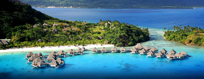 Hôtel Hilton Bora Bora Nui Resort & Spa, Polynésie française - Vue aérienne des villas
