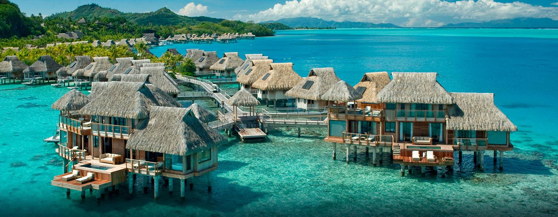 Hôtel Hilton Bora Bora Nui Resort & Spa, Polynésie française - Vue aérienne des villas présidentielles