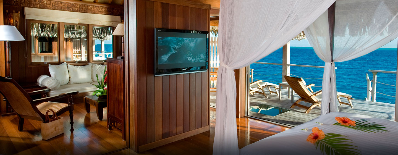 Hôtel Hilton Bora Bora Nui Resort & Spa, Polynésie française - Villa de luxe sur pilotis