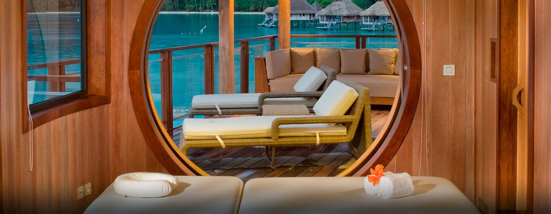 Hôtel Hilton Bora Bora Nui Resort & Spa, Polynésie française - Table de massage de la villa présidentielle