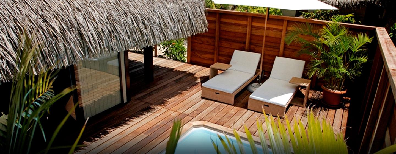 Hôtel Hilton Moorea Lagoon Resort & Spa, Polynésie française - Bungalow avec piscine