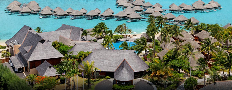 Hôtel Hilton Moorea Lagoon Resort & Spa, Polynésie française - Vue aérienne