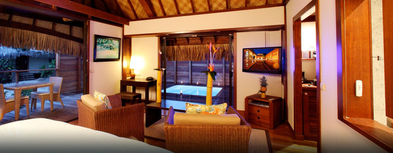 Hôtel Hilton Moorea Lagoon Resort & Spa, Polynésie française - Intérieur d'un bungalow