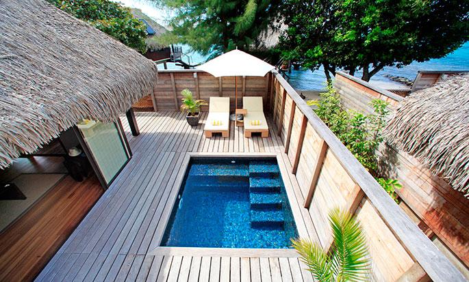 Hotel Hilton Moorea Lagoon Resort and Spa - Bangalô Deluxe com jardim e piscina