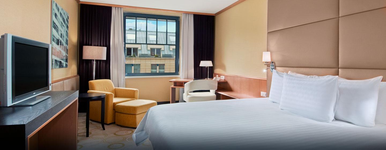 Entspannen Sie nach einem erlebnisreichen Tag in Prag auf den großen King-Size-Betten in den Zimmern