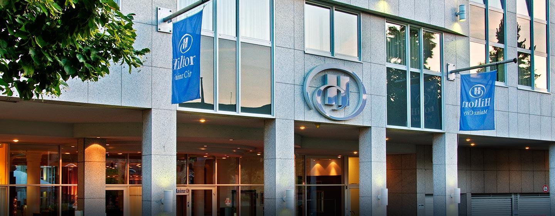 Gern begrüßen wir Sie im Hilton Mainz City