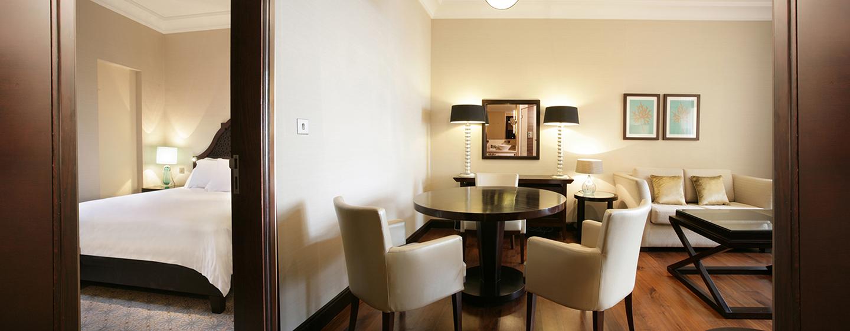 Die Präsidenten Suite verfügt über einen großen Wohnbereich und ein separates Schlafzimmer