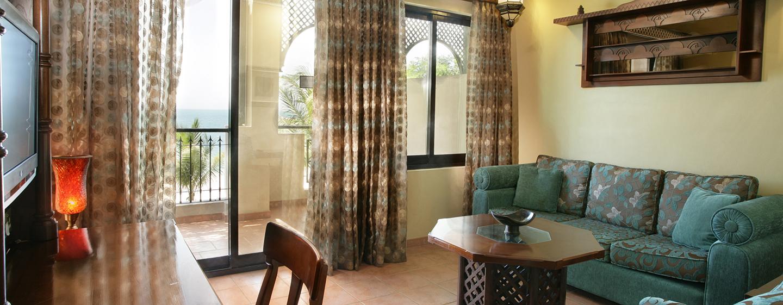 Auf dem bequemen Sofa in der Junior Suite, können Sie am Abend nach einem schönen Tag entspannen