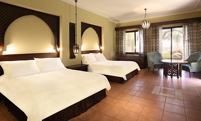 Hilton Ras Al Khaimah Resort & Spa hotel, UAE - Double Queen Deluxe Beach Villa Bedroom