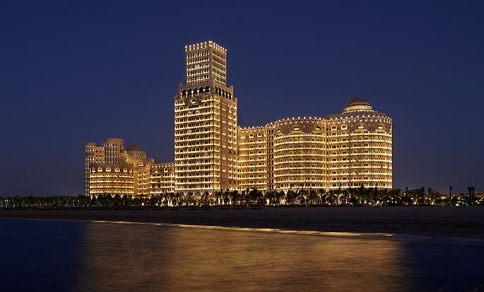 Waldorf Astoria Ras Al Khaimah -hotelli, Yhdistyneet arabiemiirikunnat - Hotelli yöllä