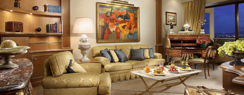 Hôtel Rome Cavalieri, Waldorf Astoria, Italie - Suite d'angle