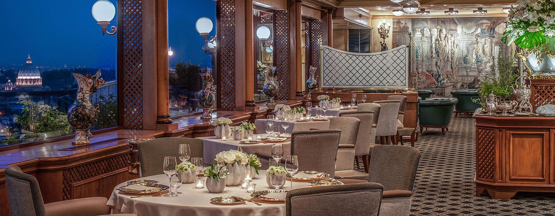 Rome Cavalieri, Waldorf Astoria Hotels and Resorts, Italien - Restaurant La Pergola