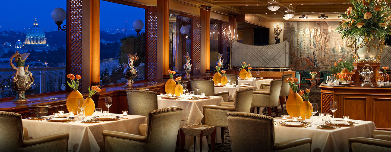Hôtel Rome Cavalieri, Waldorf Astoria, Italie - Restaurant La Pergola
