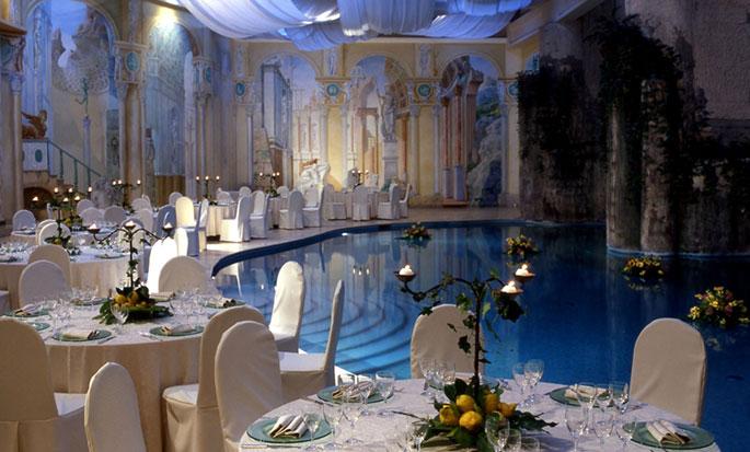 Hôtel Hilton Sorrento Palace, Italie - Configuration des tables du Ginestre