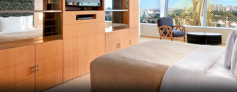 Hotel Hilton Sao Paulo Morumbi, Brasil - Dormitorio de la suite