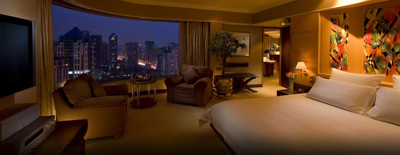 Bewundern Sie die Skyline von Shanghai direkt vom Fenster der Executive Suite