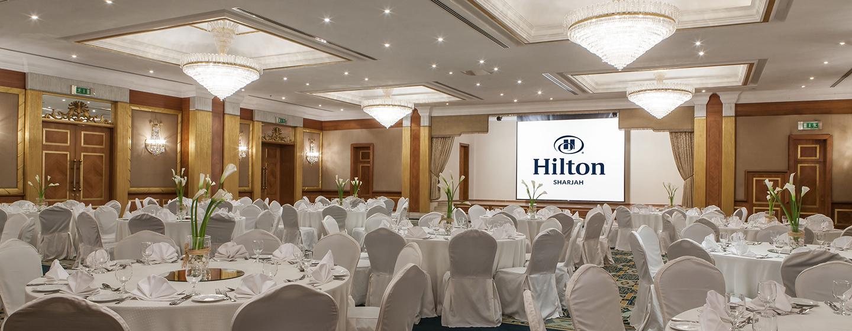 Geschäftliche und private Events werden im Hilton Sharjah zum Erfolg
