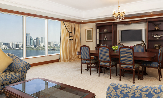 Hilton Sharjah Hotel, UAE - Suite Living Area