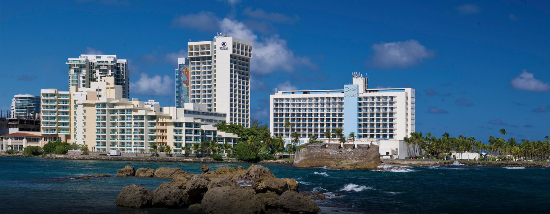 Hotel Condado Lagoon Villas at Caribe Hilton, San Juan, Puerto Rico - Vista panorámica del hotel