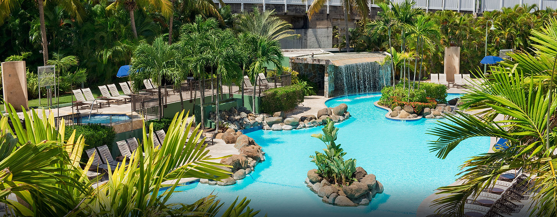 Hotel Embassy Suites San Juan - Hotel & Casino, Puerto Rico - Piscina en forma de laguna