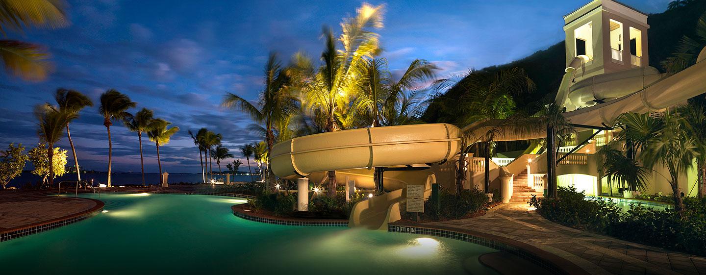 Las Casitas, a Waldorf Astoria Resort, Fajardo, Puerto Rico - Tobogán en la piscina