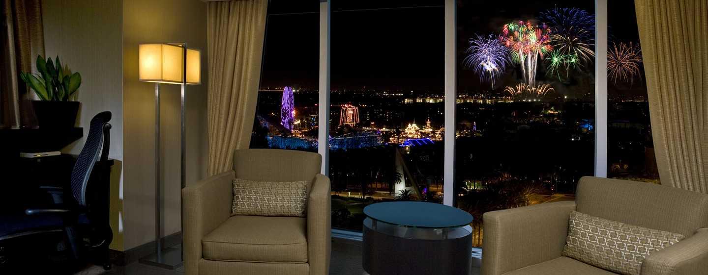 Hilton Anaheim, Califórnia - Vista da Disney