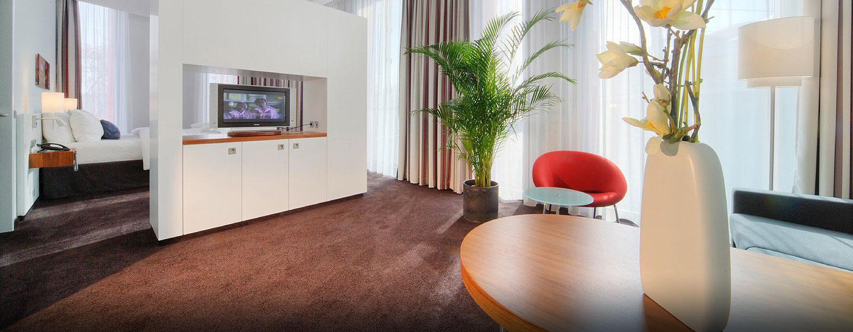 Genießen Sie die geräumige Junior Suite mit getrenntem Wohn- und Schlafbereich