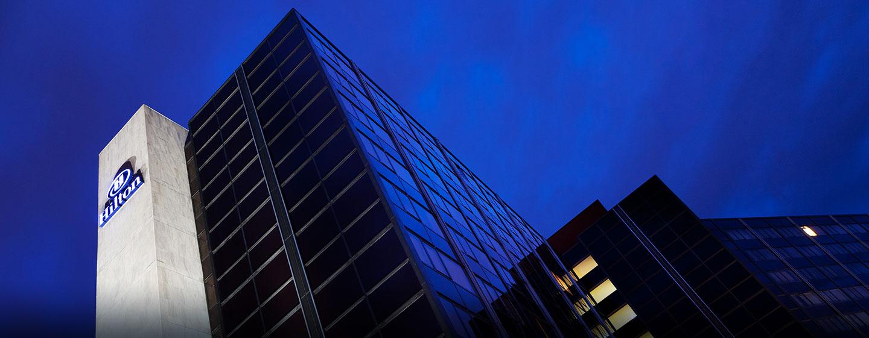 Hôtel Hilton Strasbourg, France - Vue extérieure, la nuit
