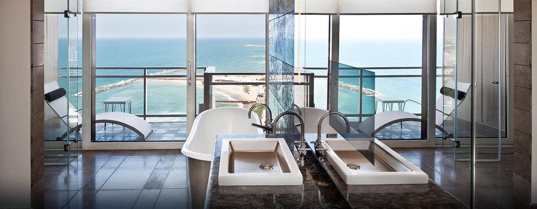 Hilton Tel Aviv Hotel, Israel – Badezimmer der Presidential Suite