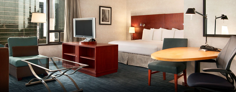 Hôtel Hilton Toronto, ON, Canada - Suite junior avec très grand lit