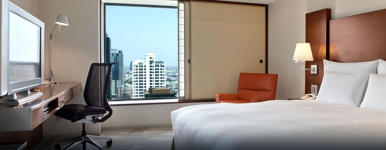 Aus den Hotelzimmern haben Sie einen schönen Ausblick auf die Wolkenkratzer der Großstadt