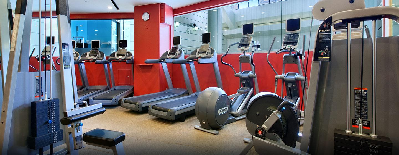 Das Fitness Center eignet sich gut für Cardio- und Krafttraining