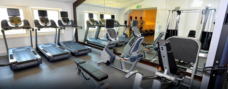 Im Fitnessraum können Sie Ihrem gewohnten Training nachgehe