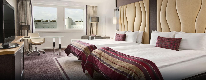 Im Zimmer stehen Ihnen auf Ihrer Reise zwei bequeme Betten zur Verfügung